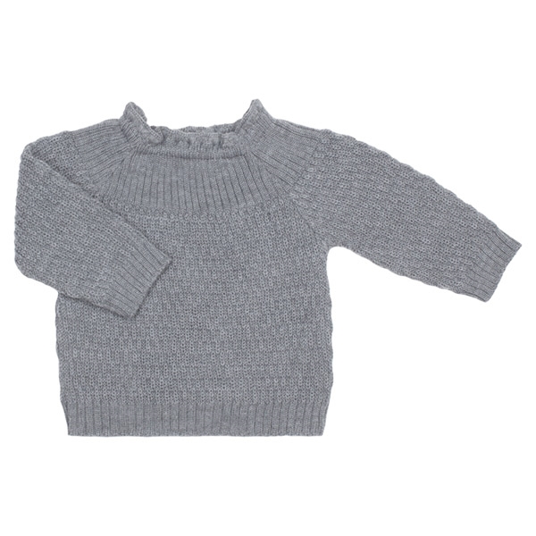 Selana Uld Sweater - Schiefer