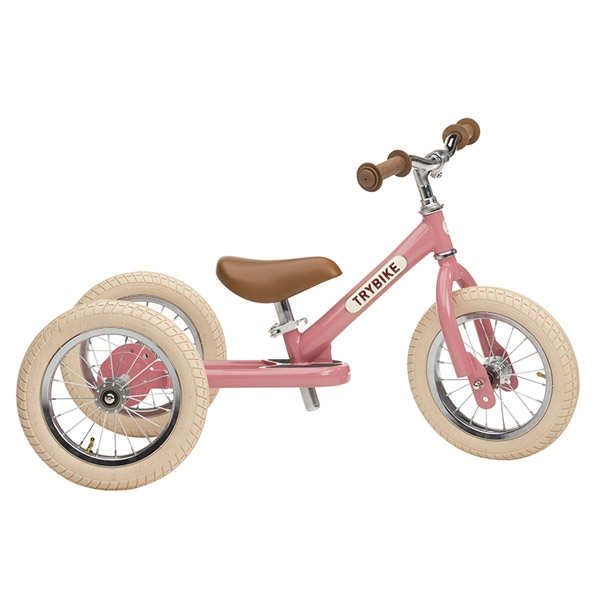Image of   Trybike 3-hjulet Løbecykel - Lyserød