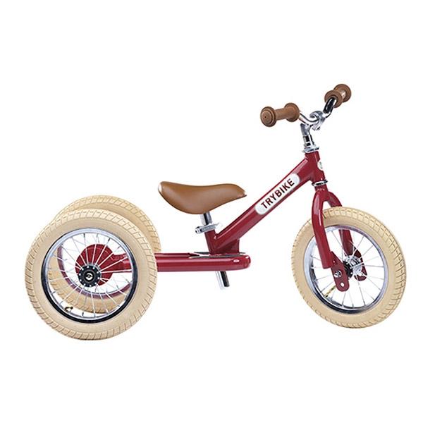 Image of   Trybike 3-hjulet Løbecykel - Rød