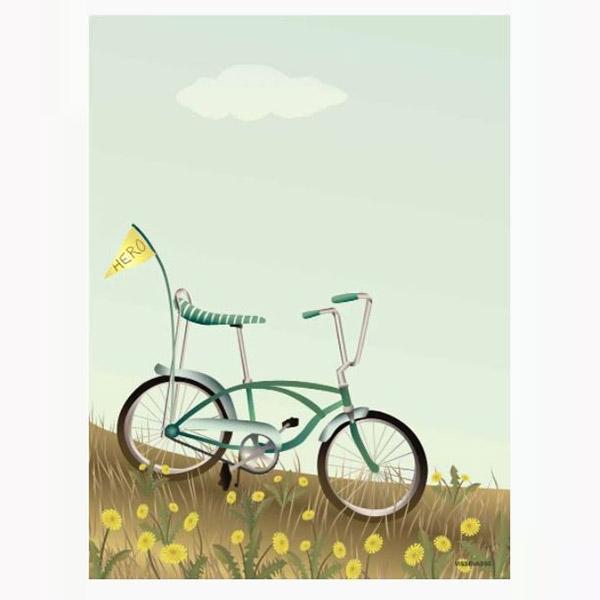 ViSSEVASSE Plakat Bike With A Flag