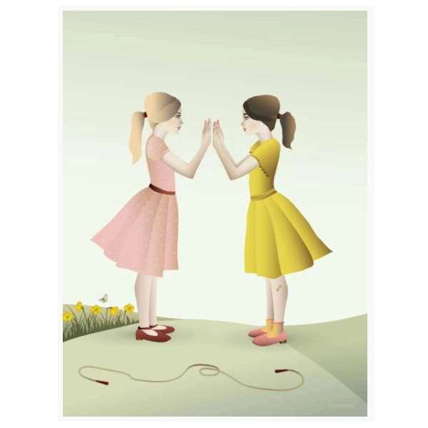 ViSSEVASSE Plakat Hand-Clapping Girls