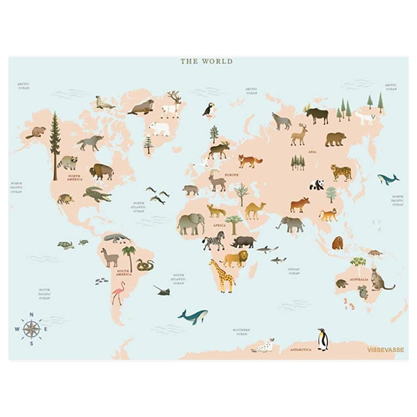 ViSSEVASSE Plakat Worldmap
