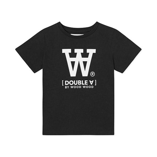 Wood Wood Double A T-shirt Black - Økologisk børnetøj - Wood Wood