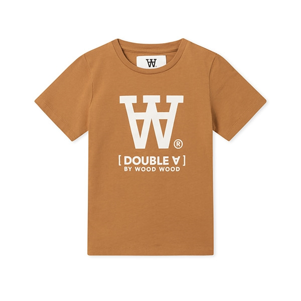 Wood Wood Double A T-shirt Camel - Økologisk børnetøj - Wood Wood