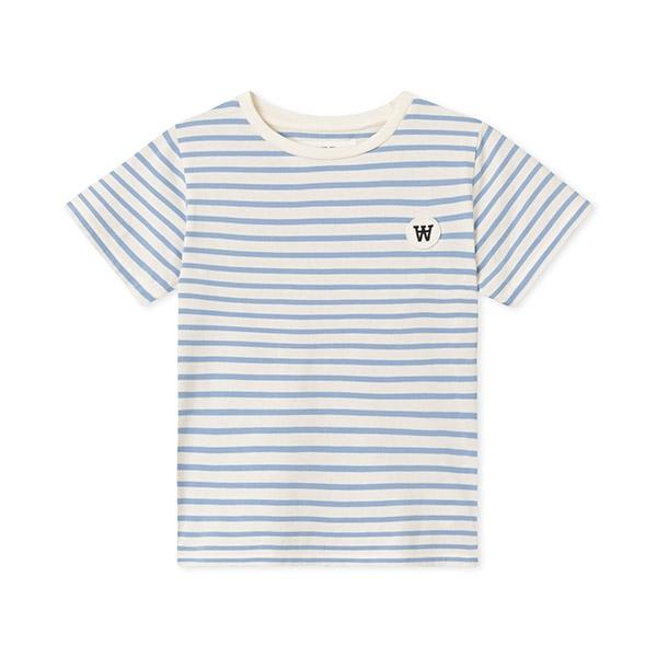 Wood Wood Ola T-shirt Offwhite/Blue - Økologisk børnetøj - Wood Wood