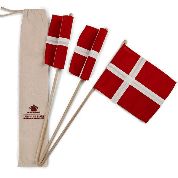 Image of   Langkilde & Søn - Hurra Flag 3 stk
