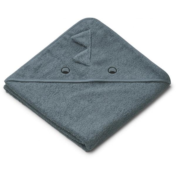 Liewood Babyhåndklæde Dino – Whale Blue