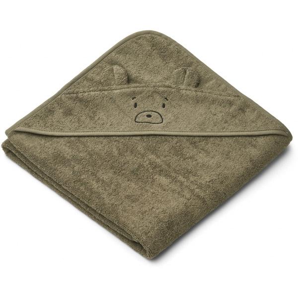 Liewood Babyhåndklæde Mr Bear – Khaki