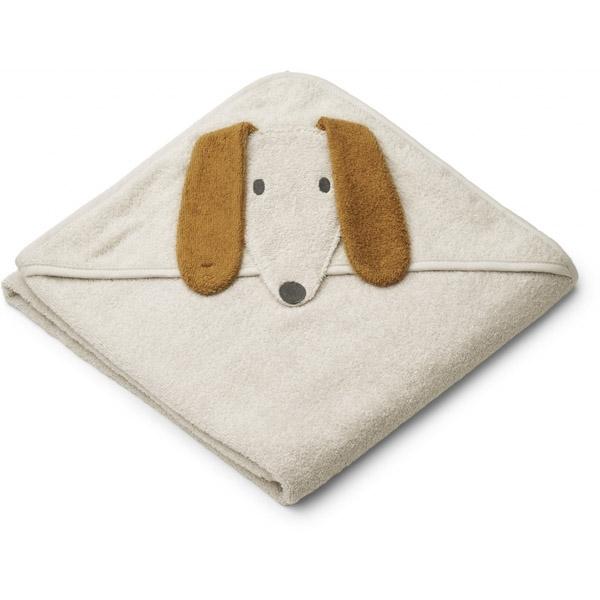 Liewood Babyhåndklæde Dog – Sandy