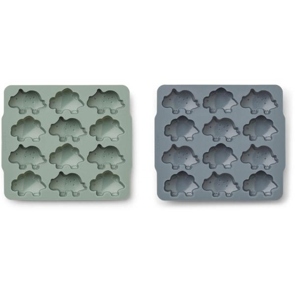 Billede af Liewood 2-Pak Isterninge Form - Peppermint/Whale Blue Mix