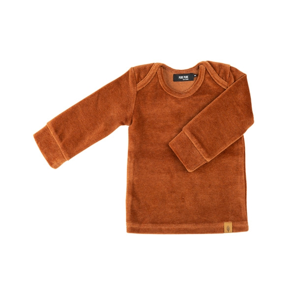 Pure Pure Velour Baby Bluse - Caramel