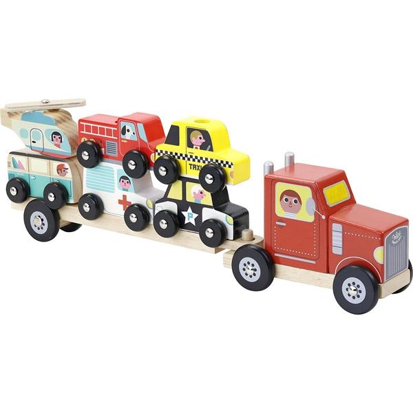 Vilac Lastbil med Anhænger og Biler