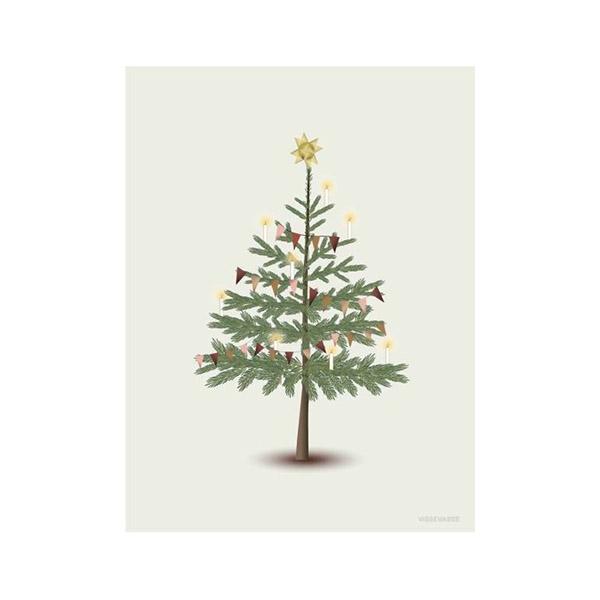 ViSSEVASSE Julekort m. Kuvert - Christmas Tree