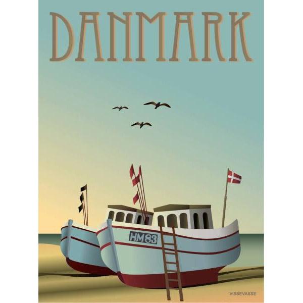 ViSSEVASSE Plakat Danmark - Fiskebådene