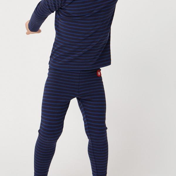 Wood Wood Stribede Leggings Navy/Blue - Økologisk børnetøj - Wood Wood