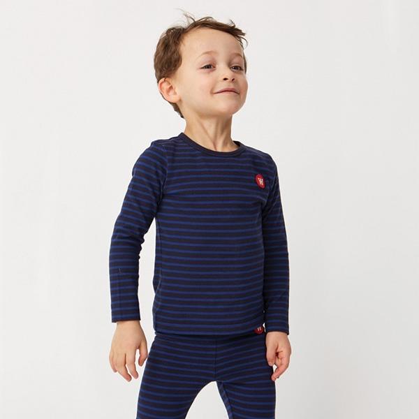 Wood Wood Stribet Bluse Navy/Blue - Økologisk børnetøj - Wood Wood