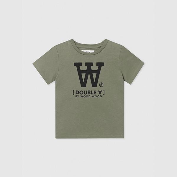 Wood Wood Double A T-shirt Army Green - Økologisk børnetøj - Wood Wood