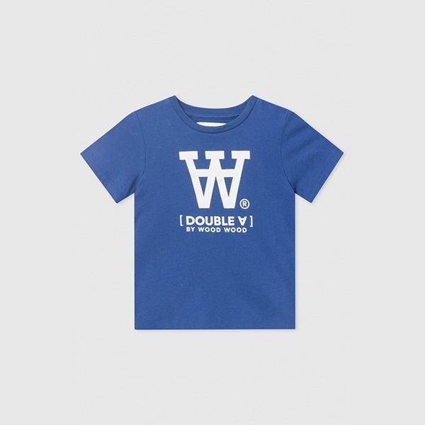 Wood Wood Double A T-shirt Blue - Økologisk børnetøj - Wood Wood