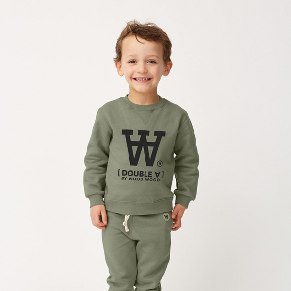Wood Wood Sweatshirt Army Green - Økologisk børnetøj - Wood Wood